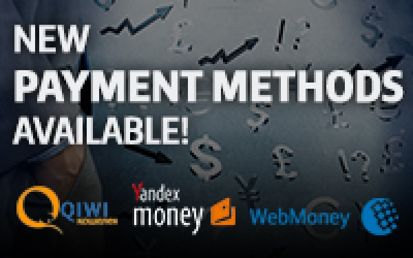 New Payment Methods Now Available